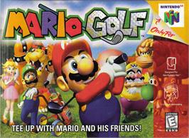 Box cover for Mario Golf on the Nintendo N64.