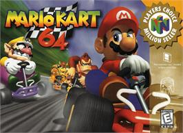 Box cover for Mario Kart 64 on the Nintendo N64.