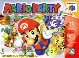 Box cover for Mario Party on the Nintendo N64.