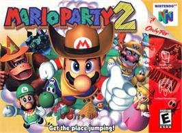 Box cover for Mario Party 2 on the Nintendo N64.