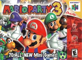 Box cover for Mario Party 3 on the Nintendo N64.