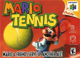 Box cover for Mario Tennis on the Nintendo N64.