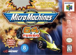 Box cover for Micro Machines 64 Turbo on the Nintendo N64.