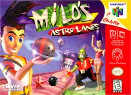 Box cover for Milo's Astro Lanes on the Nintendo N64.