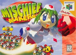 Box cover for Mischief Makers on the Nintendo N64.
