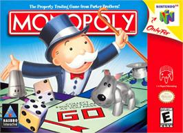 Box cover for Monopoly on the Nintendo N64.