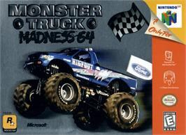 Box cover for Monster Truck Madness 64 on the Nintendo N64.