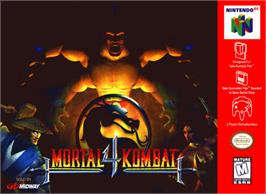 Box cover for Mortal Kombat 4 on the Nintendo N64.