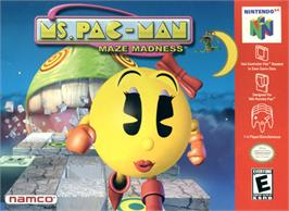 Box cover for Ms. Pac-Man Maze Madness on the Nintendo N64.