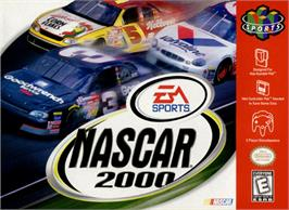 Box cover for NASCAR 2000 on the Nintendo N64.