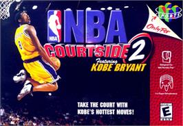 Box cover for NBA Courtside 2: Featuring Kobe Bryant on the Nintendo N64.