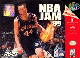 Box cover for NBA Jam 99 on the Nintendo N64.