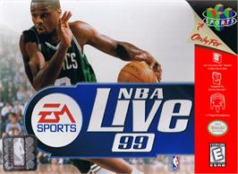 Box cover for NBA Live '99 on the Nintendo N64.