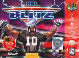 Box cover for NFL Blitz on the Nintendo N64.