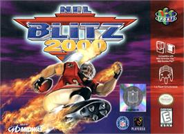 Box cover for NFL Blitz 2000 on the Nintendo N64.