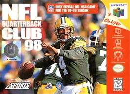 Box cover for NFL Quarterback Club '98 on the Nintendo N64.