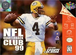 Box cover for NFL Quarterback Club '99 on the Nintendo N64.