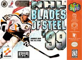 Box cover for NHL Blades of Steel '99 on the Nintendo N64.