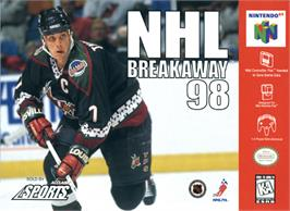 Box cover for NHL Breakaway 98 on the Nintendo N64.