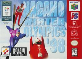 Box cover for Nagano Winter Olympics '98 on the Nintendo N64.