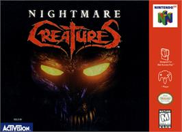 Box cover for Nightmare Creatures on the Nintendo N64.