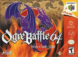 Box cover for Ogre Battle 64: Person of Lordly Caliber on the Nintendo N64.