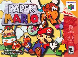 Box cover for Paper Mario on the Nintendo N64.
