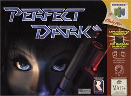 Box cover for Perfect Dark on the Nintendo N64.