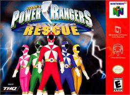 Box cover for Power Rangers: Lightspeed Rescue on the Nintendo N64.