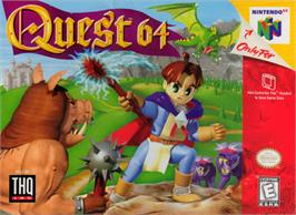 Box cover for Quest 64 on the Nintendo N64.