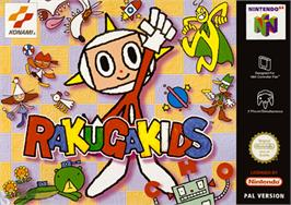Box cover for Rakugakids on the Nintendo N64.