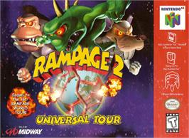 Box cover for Rampage: Universal Tour on the Nintendo N64.