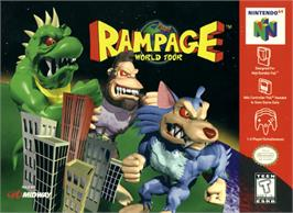 Box cover for Rampage: World Tour on the Nintendo N64.