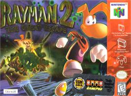 Box cover for Rayman 2: The Great Escape on the Nintendo N64.
