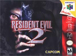 Box cover for Resident Evil 2 on the Nintendo N64.