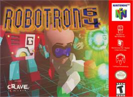 Box cover for Robotron 64 on the Nintendo N64.