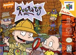 Box cover for Rugrats: Scavenger Hunt on the Nintendo N64.