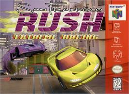 Box cover for San Francisco Rush: Extreme Racing on the Nintendo N64.