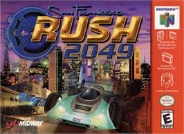 Box cover for San Francisco Rush 2049 on the Nintendo N64.