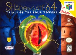 Box cover for Shadowgate 64: The Trials of the Four Towers on the Nintendo N64.