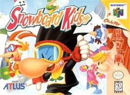 Box cover for Snowboard Kids on the Nintendo N64.