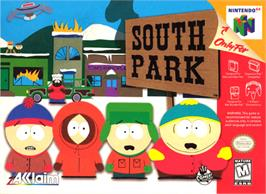 Box cover for South Park on the Nintendo N64.