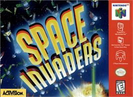 Box cover for Space Invaders on the Nintendo N64.