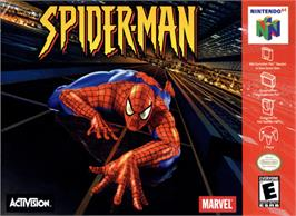 Box cover for Spider-Man on the Nintendo N64.