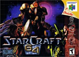 Box cover for StarCraft 64 on the Nintendo N64.