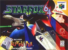 Box cover for Star Fox 64 on the Nintendo N64.