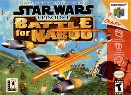 Box cover for Star Wars: Episode I - Battle for Naboo on the Nintendo N64.