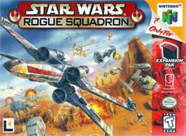 Box cover for Star Wars: Rogue Squadron on the Nintendo N64.