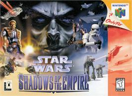 Box cover for Star Wars: Shadows of the Empire on the Nintendo N64.