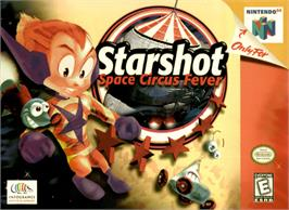 Box cover for Starshot: Space Circus Fever on the Nintendo N64.